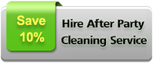after party cleaning offer
